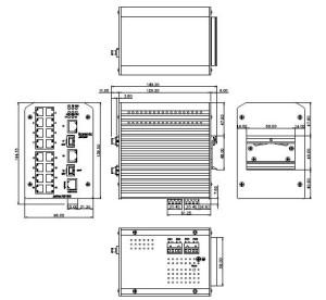 industrial ethernet switch JetNet-3018G_dimension