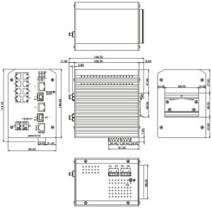 Industrial Ethernet Switch - JetNet 5012G Schema