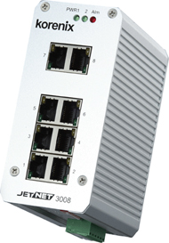 industrial ethernet switch jetnet3008